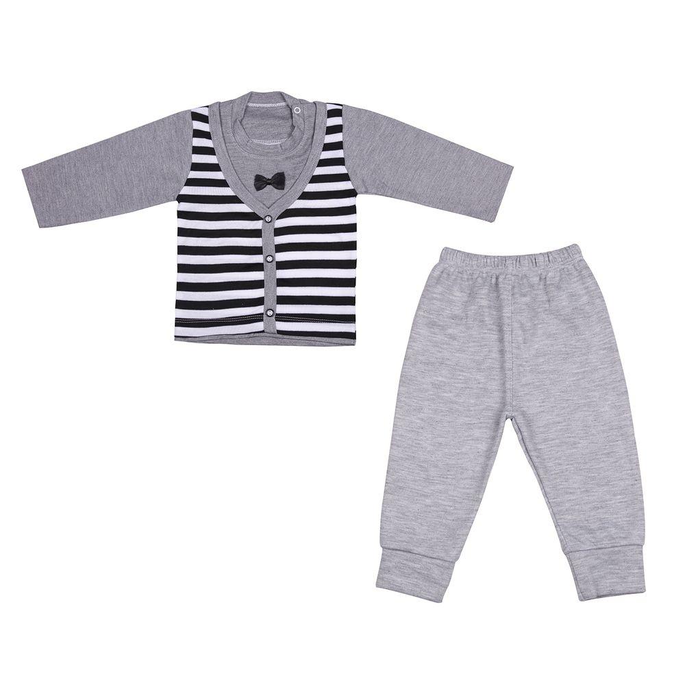 ست تی شرت و شلوار نوزادی کد 507