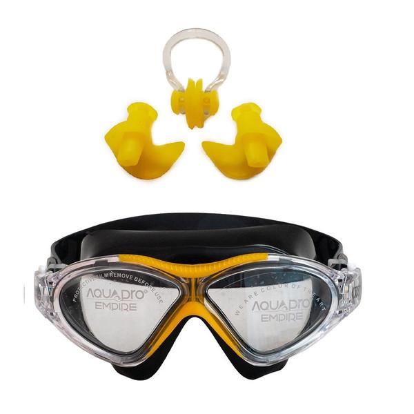 عینک شنا اکوا پرو مدل X7 به همراه گوش گیر و دماغ گیر