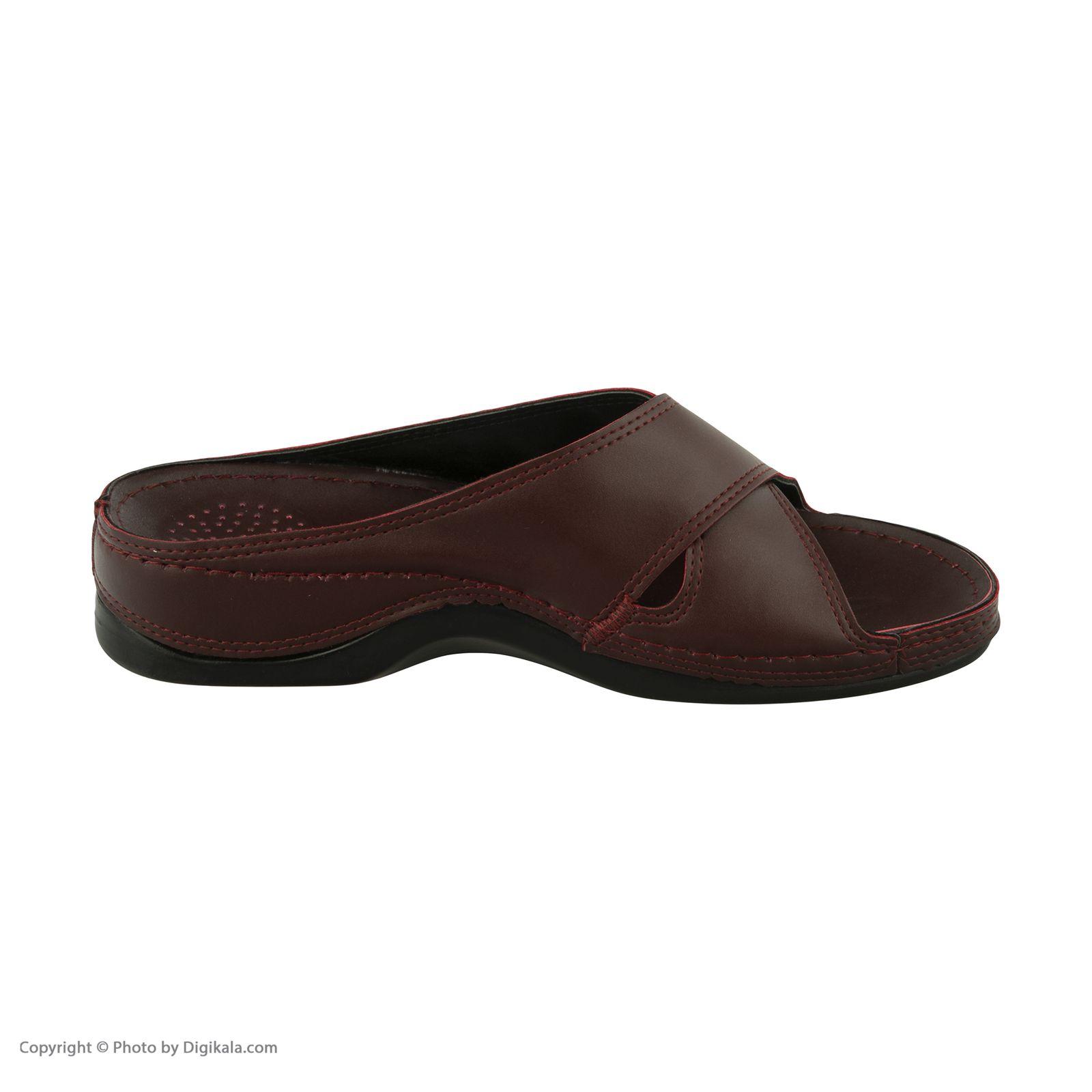 دمپایی زنانه کفش آویده کد av-0304505 رنگ زرشکی -  - 4
