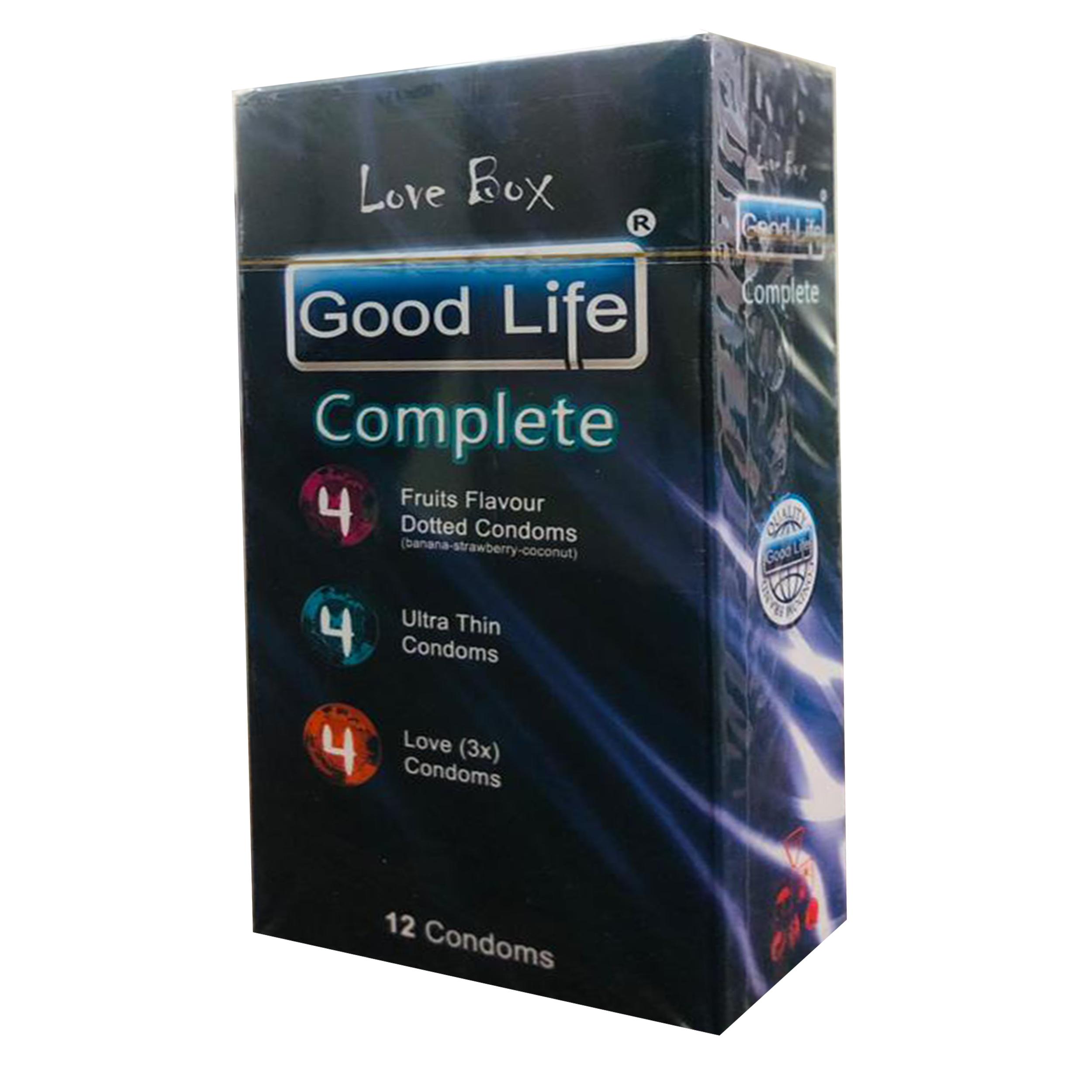 کاندوم گودلایف مدل COMPLETE کد GO06 بسته 12 عددی