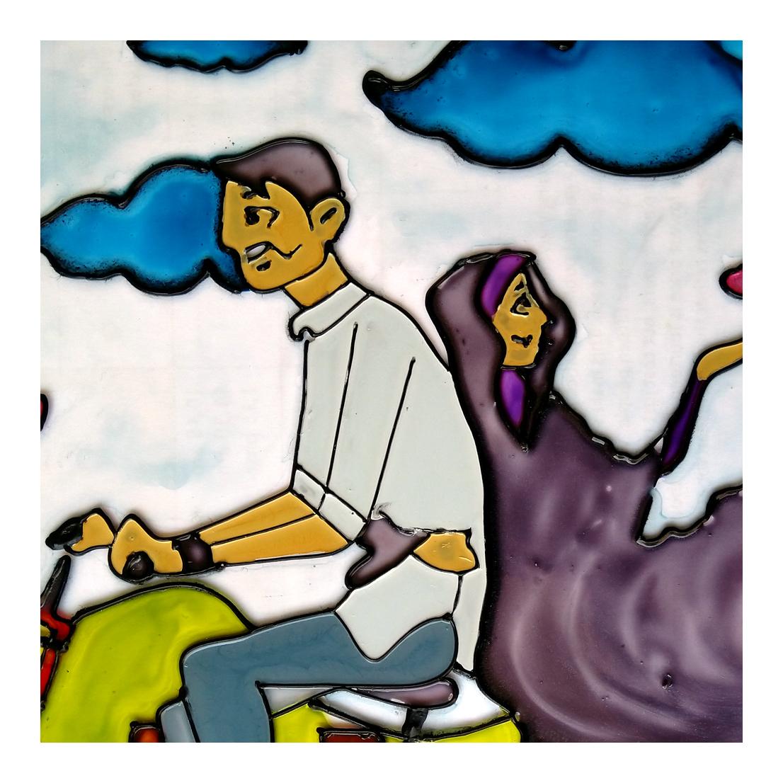 خرید                      تابلو ویترای طرح دوچرخه