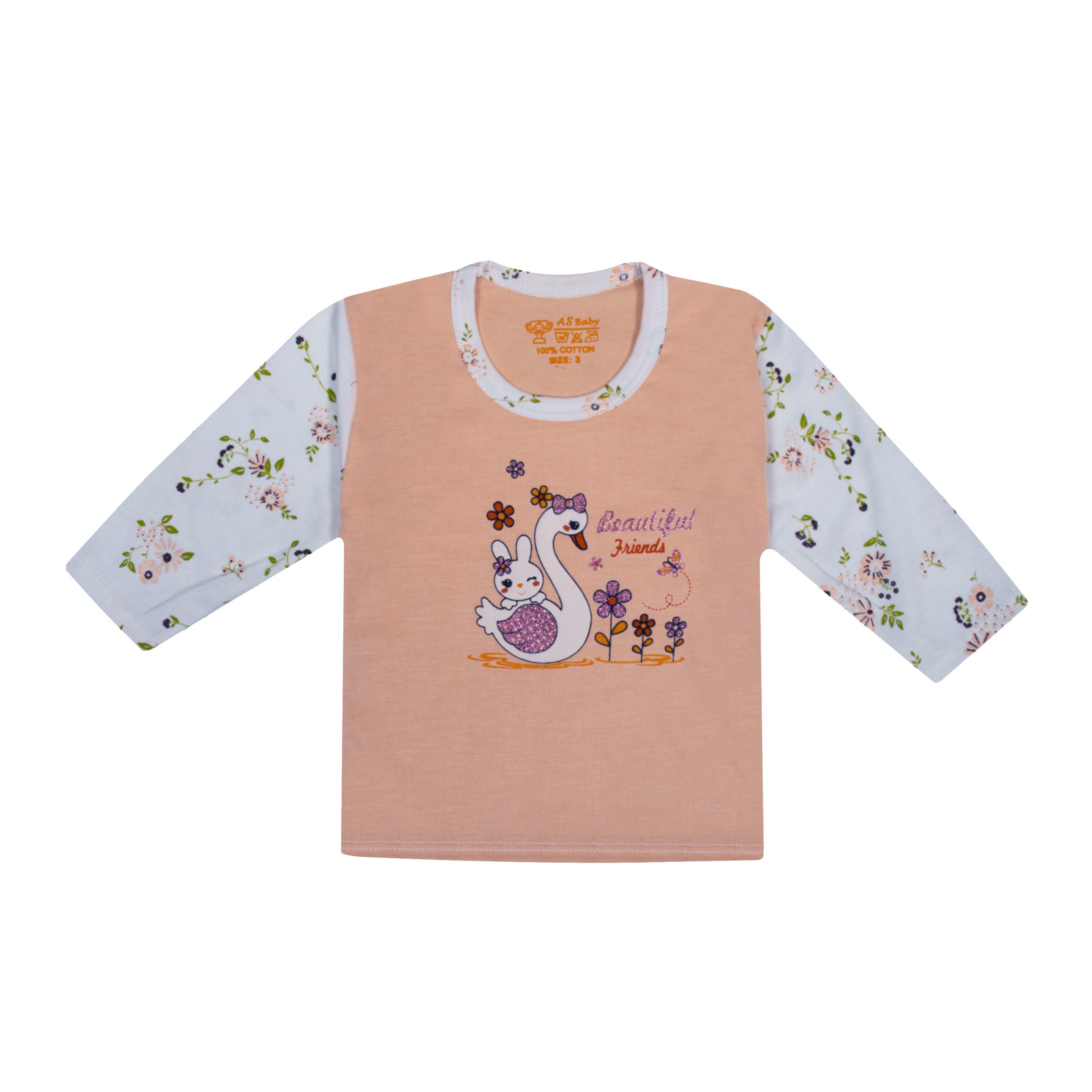 تی شرت آستین بلند نوزادی مدل 988585PI