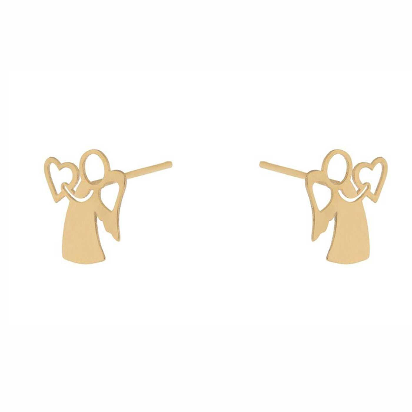 گوشواره طلا 18 عیار زنانه کانیار گالری کد GOA105 -  - 4
