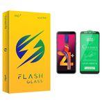 محافظ صفحه نمایش سرامیکی فلش مدل +HD مناسب برای گوشی موبایل سامسونگ Galaxy J4 Plus