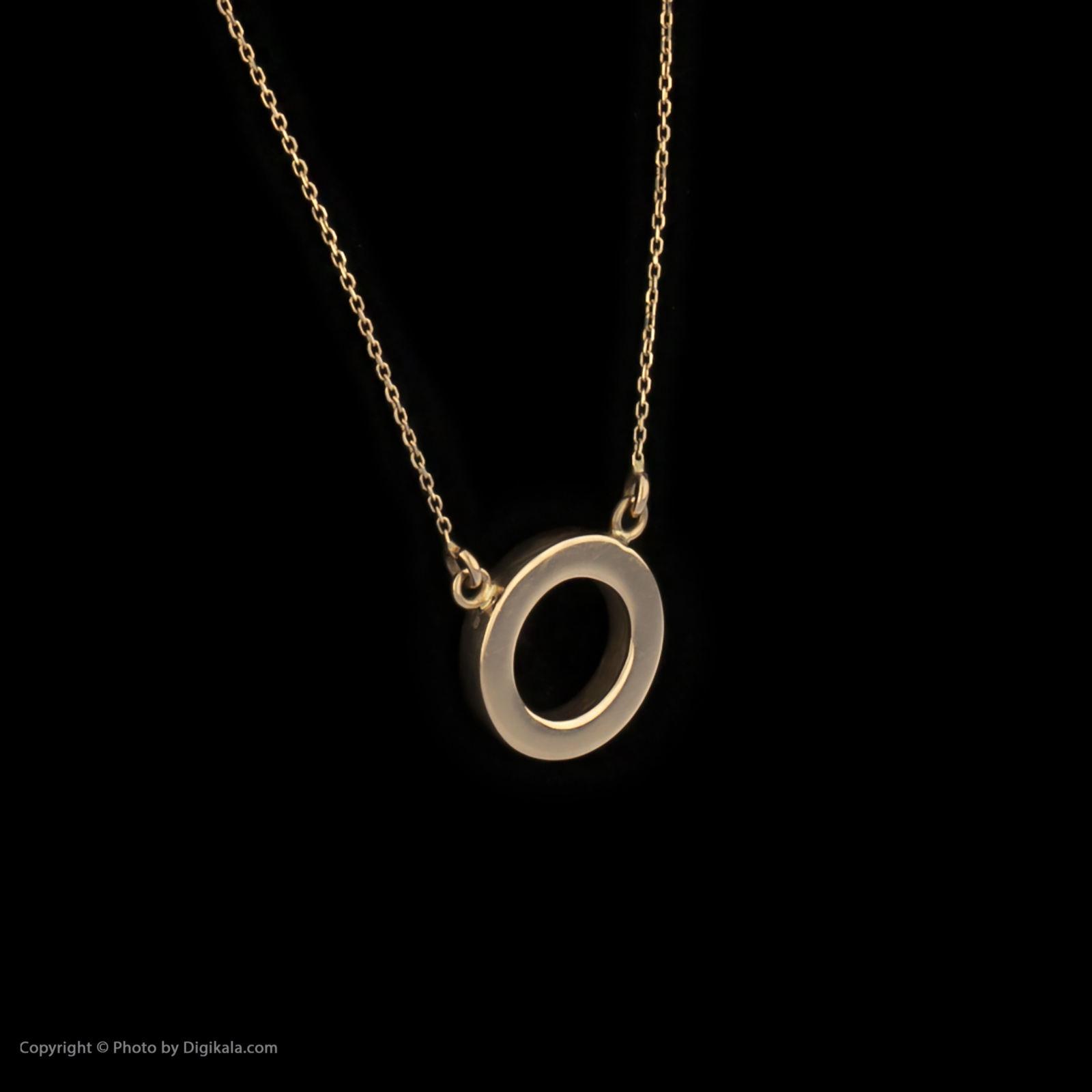 گردنبند طلا 18 عیار زنانه سنجاق مدل X052323 -  - 4