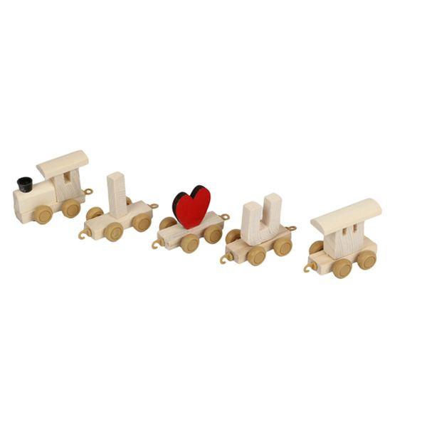 قطار چوبی طرح Love مدل B047