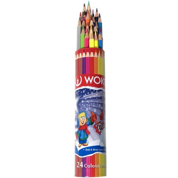 مداد رنگی 24 رنگ ووک مدل 9801R