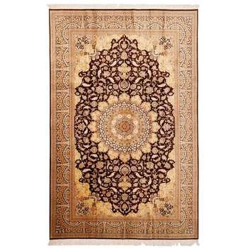 فرش دستبافت تمام ابریشم شش متری گالری مدرن کد 30007