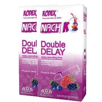 کاندوم تاخیری دوبل ناچ مدل Double Delay دو بسته 12 عددی