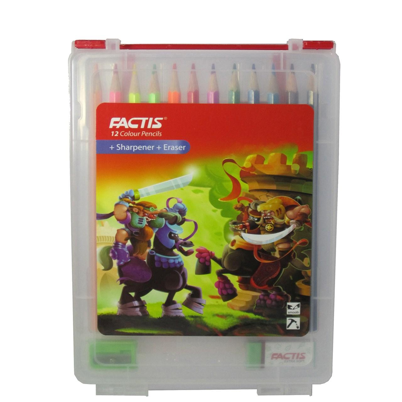 مداد رنگی 12 رنگ فکتیس مدل Smooth