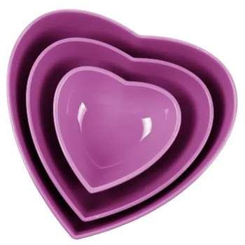 ست کاسه سه سایز زیباسازان مدل قلب