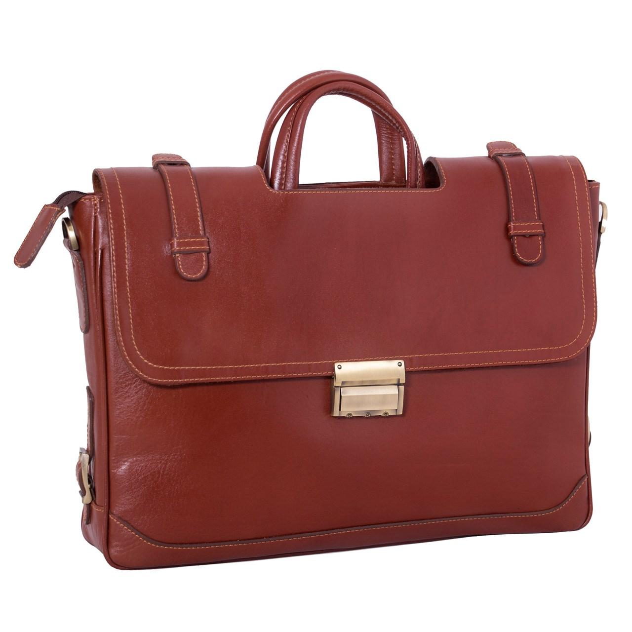 کیف اداری چرم طبیعی آدین چرم  مدل DL19