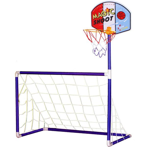 دروازه فوتبال و تخته بسکتبال مدل 2IN1