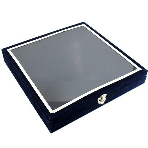 جعبه کادویی چوبی گالری دست نگار مدل درب شیشه ای
