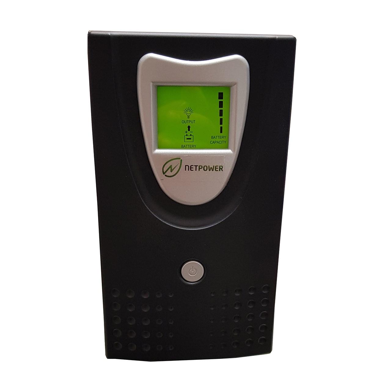 یو پی اس نت پاور آفلاین ظرفیت 1000VA باطری داخلی و نمایشگر دیجیتال