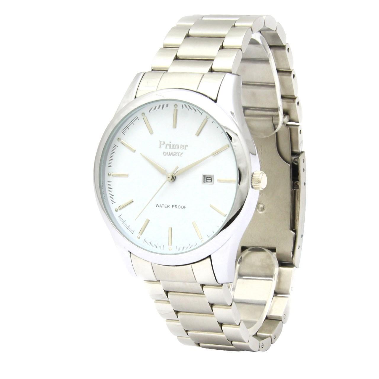 ساعت مچی عقربه ای مردانه پرایمر مدل PM-83425G-s-white