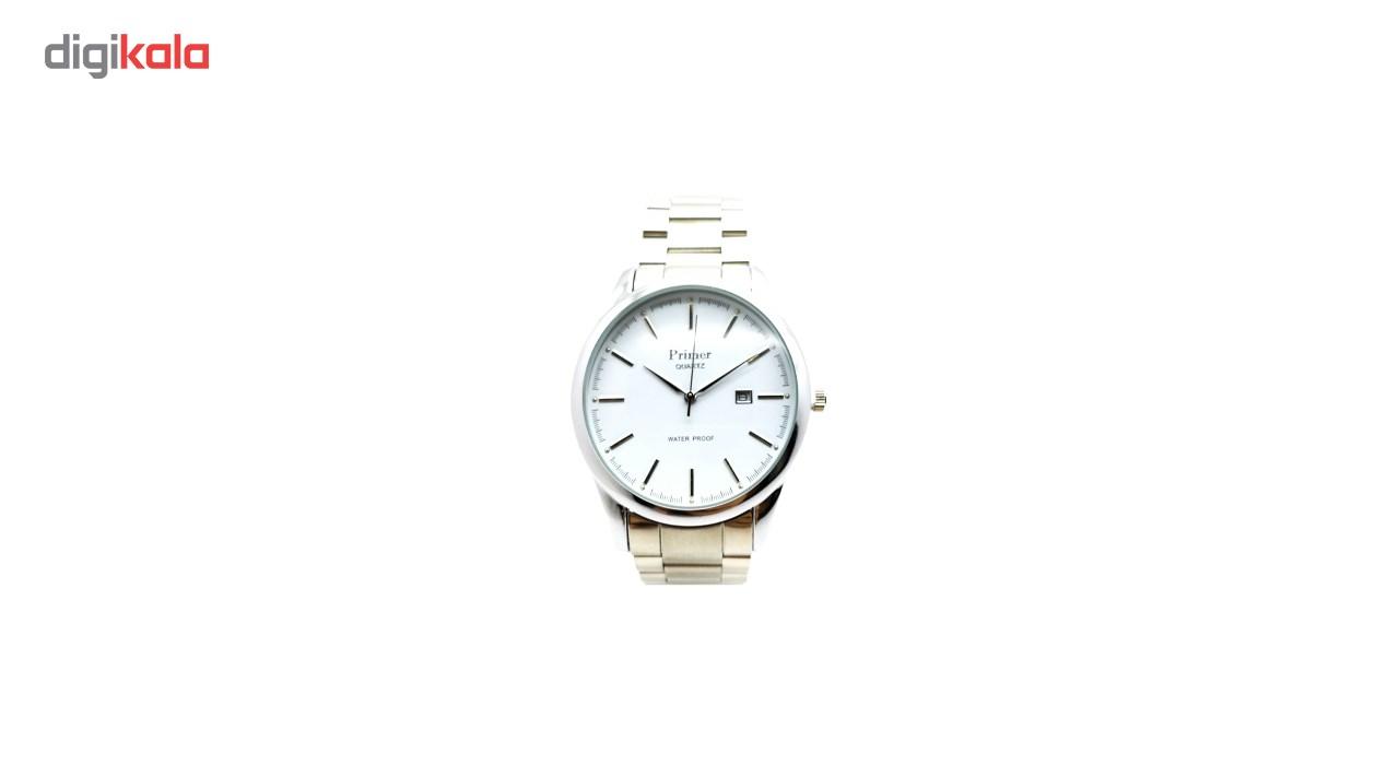 خرید ساعت مچی عقربه ای مردانه پرایمر مدل PM-83425G-s-white