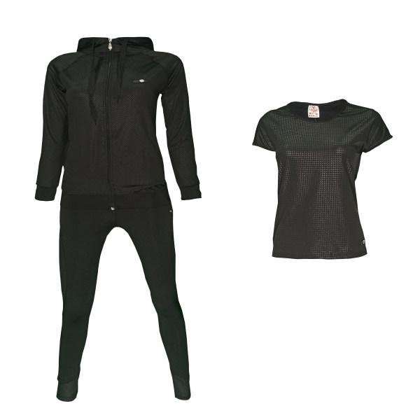 ست 3 تکه لباس ورزشی زنانه ادیارو مدل 2131