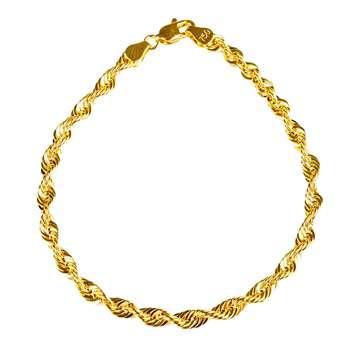 دستبند طلا 18 عیار گالری طلاچی مدل زنجیر مارپیچ