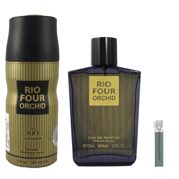 ست ادوپرفیوم مردانه ریو کالکشن مدل Rio Four Orchid حجم 100ml