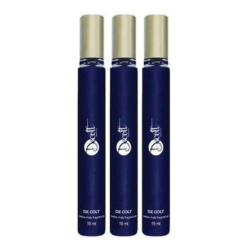عطر جیبی مردانه دکلت مدل Blue De Chanel حجم 15 میل بسته 3 عددی