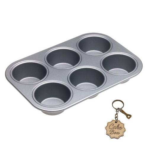 قالب کاپ کیک و مافین 6  تایی  کیک باکس به همراه جا کلیدی کیک باکس کد 1058
