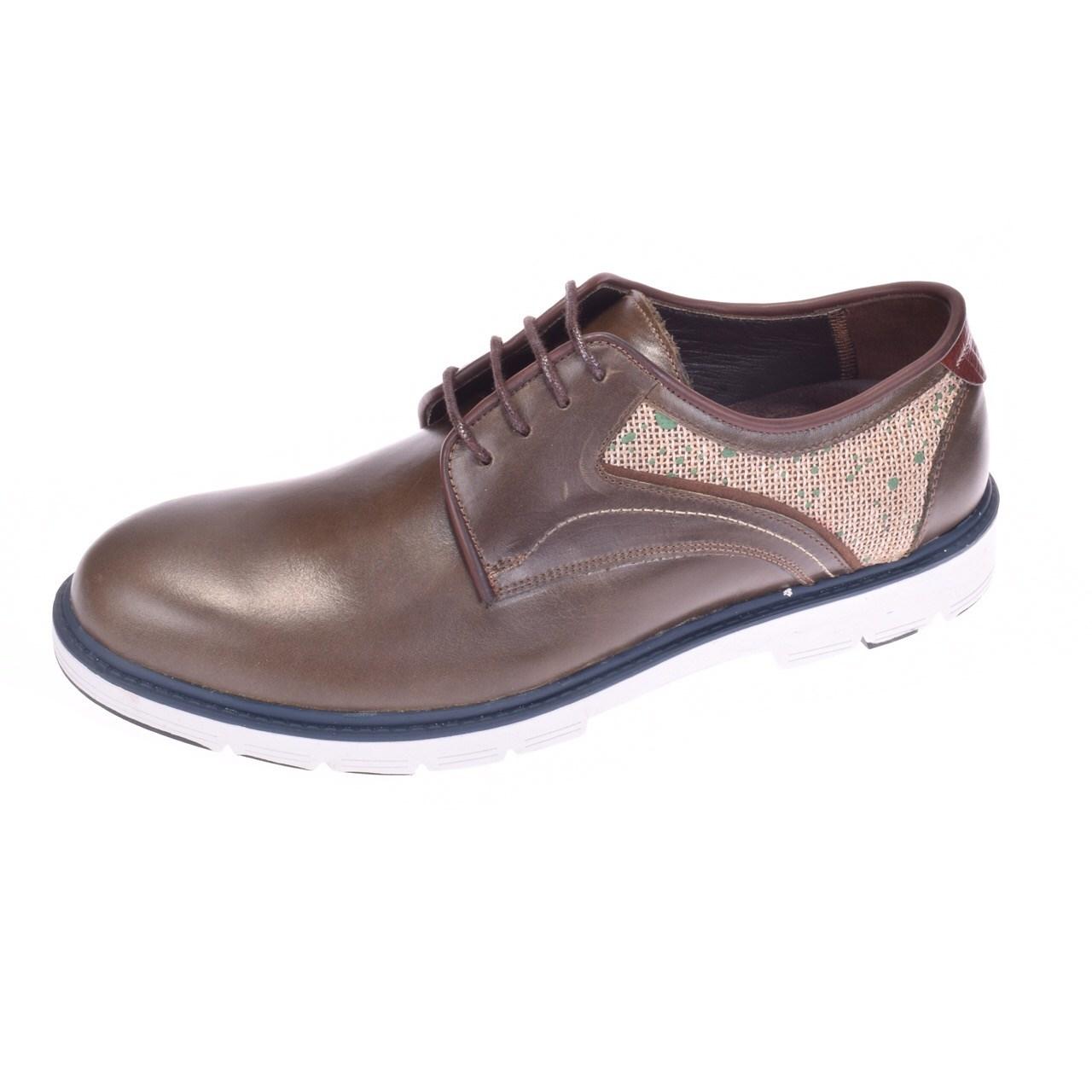 کفش مردانه پانیسا مدل Lace 144Olive-Shine