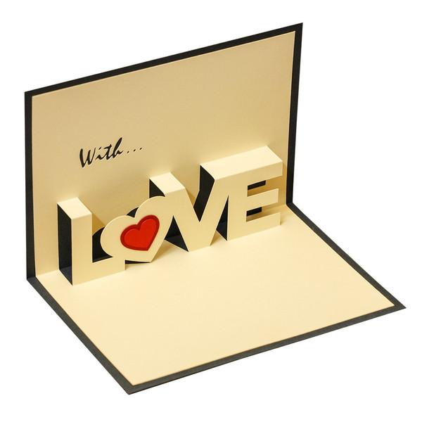 کارت پستال سه بعدی عاشقانه گروه هنری ارژنگ کد CR008d