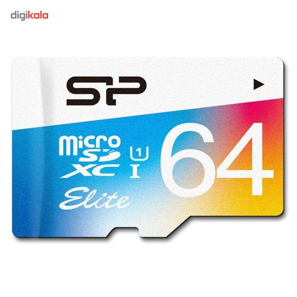 کارت حافظه microSDXC سیلیکون پاور مدل Color Elite کلاس 10 استاندارد UHS-I U1 سرعت 85MBps همراه با آداپتور SD ظرفیت 64 گیگابایت main 1 2