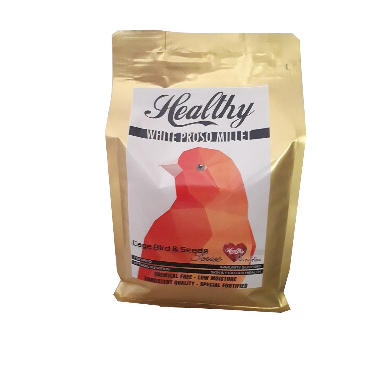 غذای خشک پرندگان هلسی مدل تک دانه ارزن درشت غنی شده  2 کیلوگرم