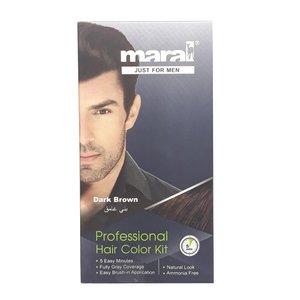 کیت رنگ موی مردانه مارال مدل Dark Brown حجم 100 میلی لیتر بسته 2 عددی