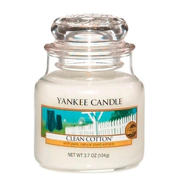 شمع کوچک ینکی کندل مدل پارچه تمیز خوشبو