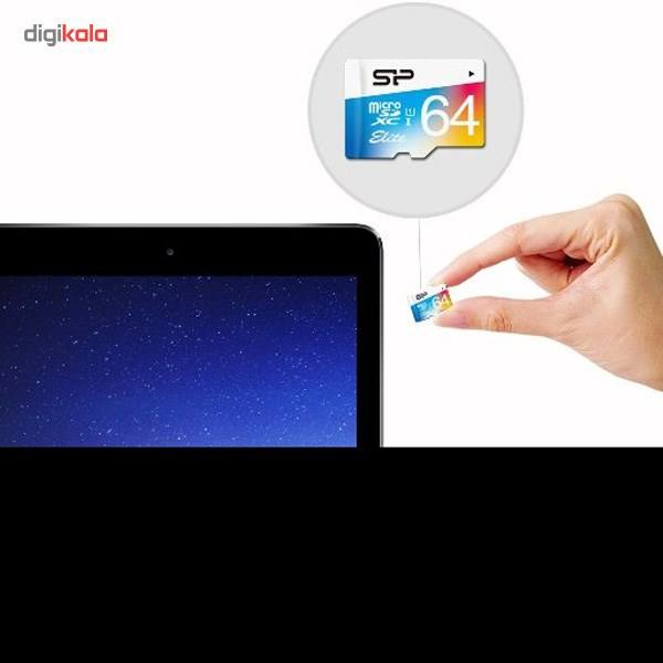 کارت حافظه microSDXC سیلیکون پاور مدل Color Elite کلاس 10 استاندارد UHS-I U1 سرعت 85MBps همراه با آداپتور SD ظرفیت 64 گیگابایت main 1 4