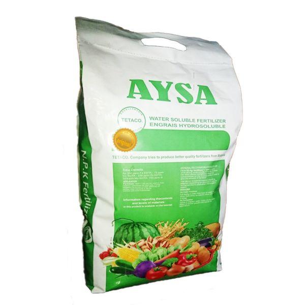 کود کامل  پودری  تتاکو مدل AYSA- NPK20-20-20  بسته 10 کیلوگرمی