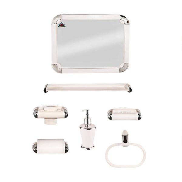 ست سرویس بهداشتی 6 پارچه نگار مدل 507 به همراه آینه