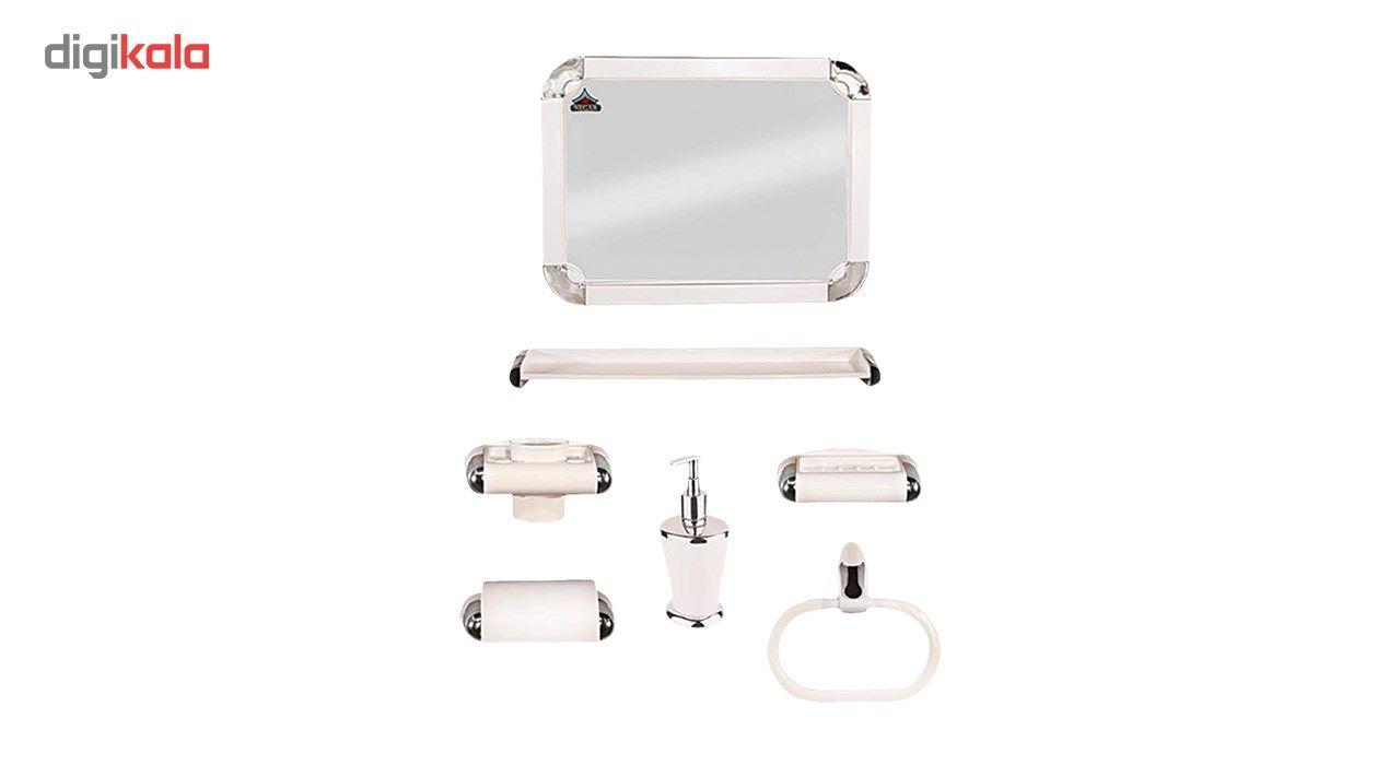 ست سرویس بهداشتی 6 پارچه نگار مدل 507 به همراه آینه  main 1 1