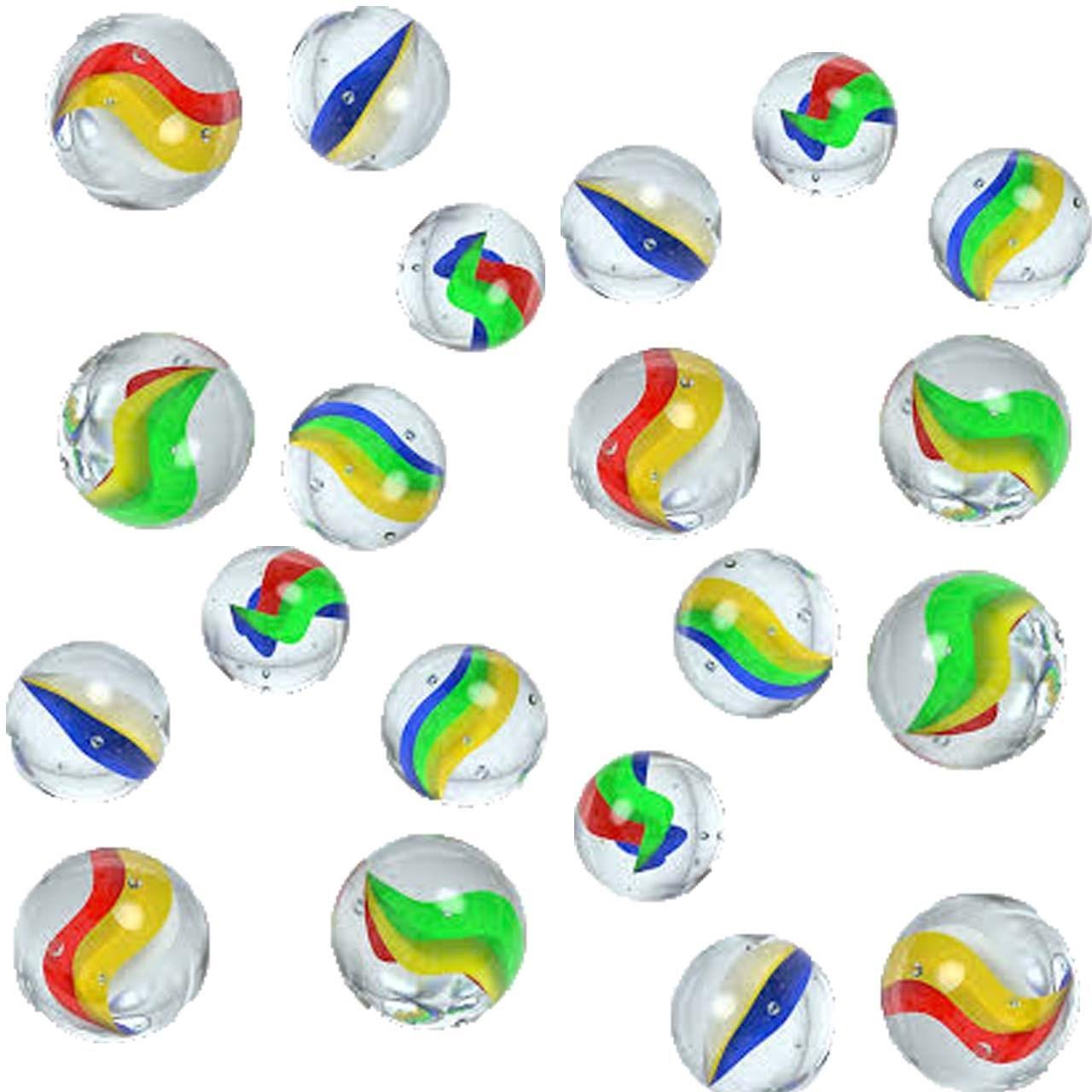 تیله شیشه ای کیان مدل پنج پر بسته 20 عددی