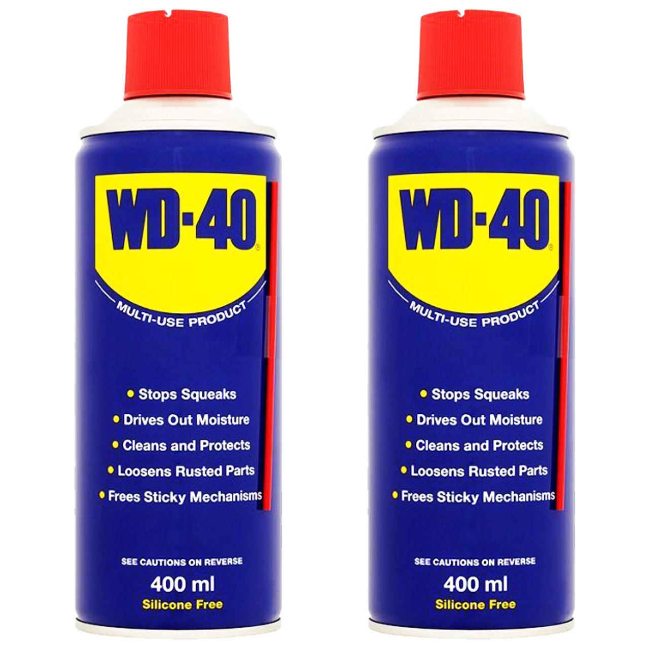 پک اسپری روان کننده WD-40 مدل GUMMY حجم 400 میلی لیتر  بسته 2 عددی