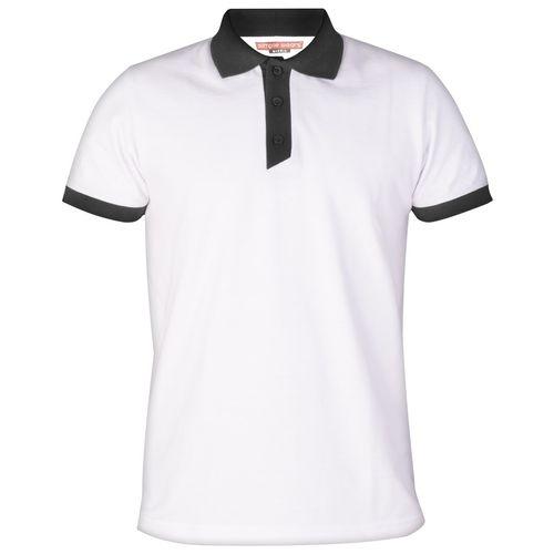 پولوشرت مردانه سیمپل مدل KAJ-White-Black
