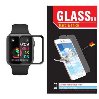 محافظ صفحه نمایش شیشه ای Hard and thick مدل Tempered Glass 3D مناسب اپل واچ سایز 42 میلی متر