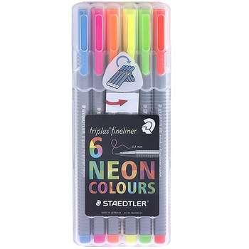 روان نویس 6 رنگ استدلر مدل Triplus Neon Colours