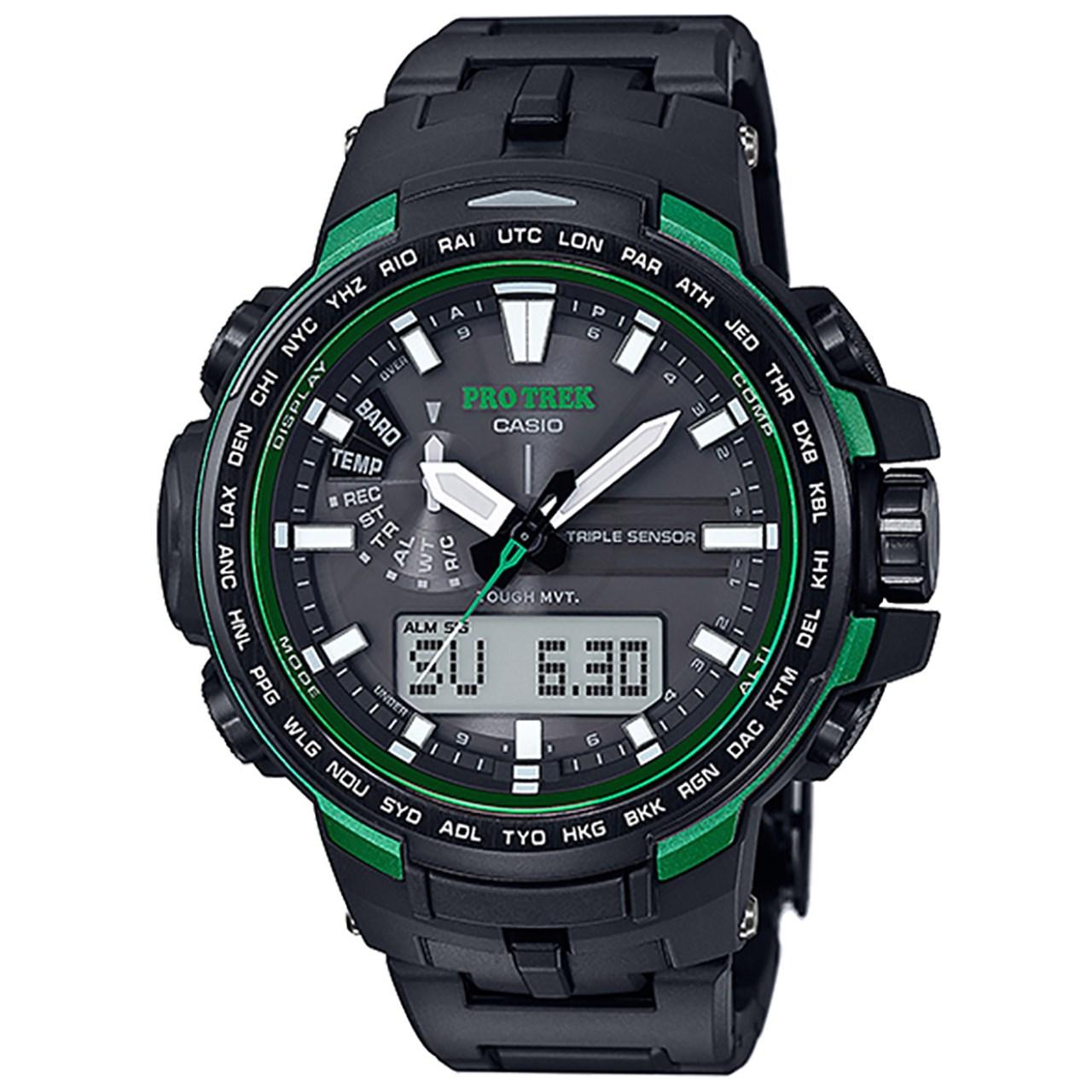 خرید ساعت مچی عقربه ای مردانه کاسیو مدل PRW-6100FC-1DR
