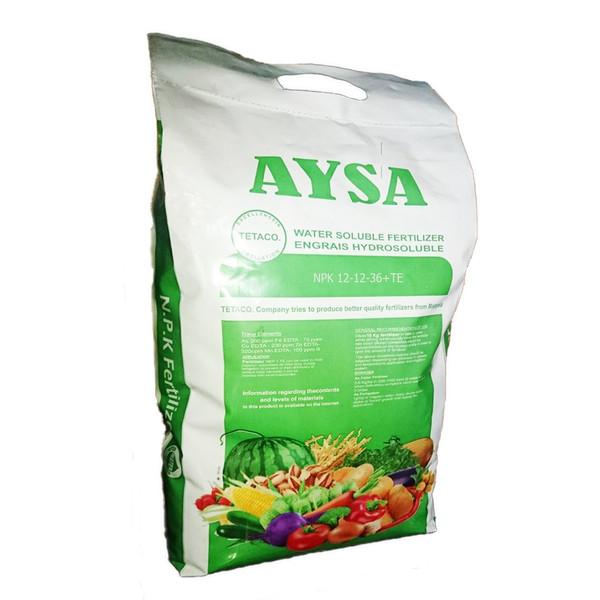 کود کامل پودری تتاکو مدل AYSA - NPK12-12-36  بسته 10 کیلوگرمی