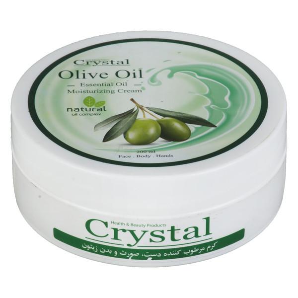 کرم مرطوب کننده کریستال مدل Olive حجم 200 میلی لیتر