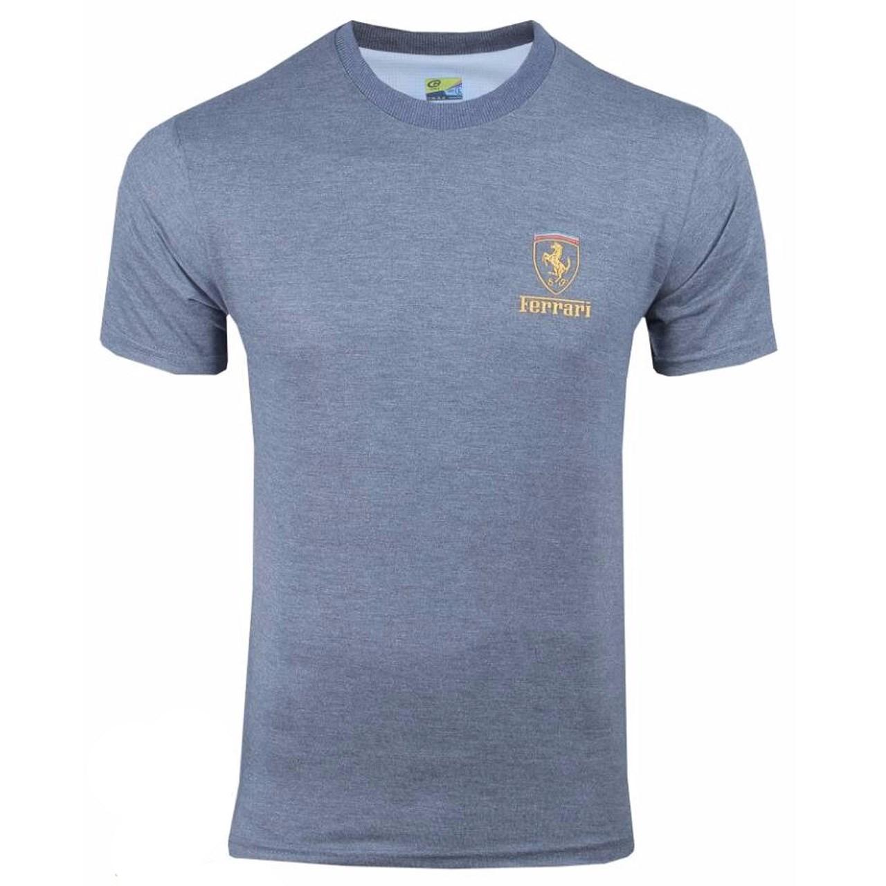 تی شرت آستین کوتاه مردانه هدف ورزش طرح فراری HDF02