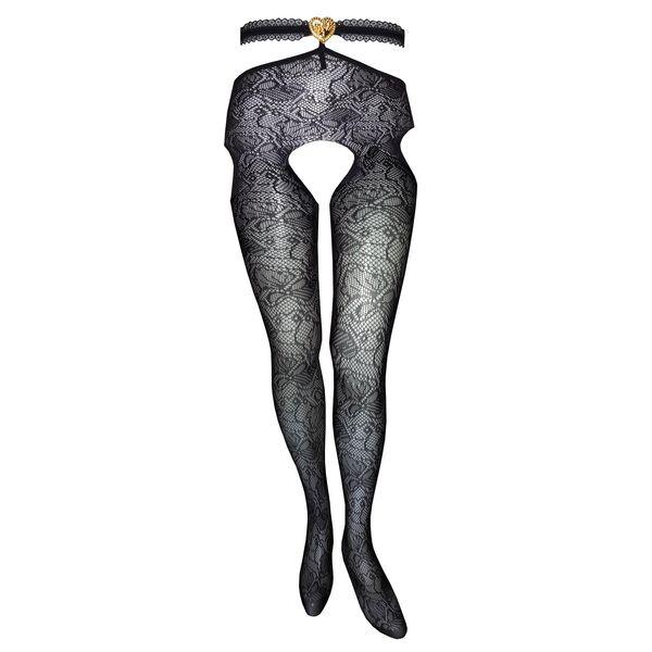 جوراب شلواری زنانه مدل تور فاق باز A