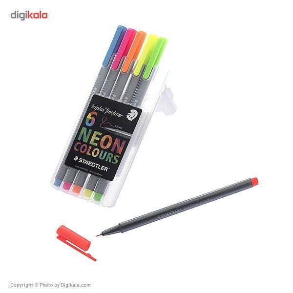 روان نویس 6 رنگ استدلر مدل Triplus Neon Colours main 1 7