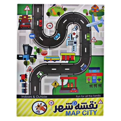 زیرانداز بازی کودک زرافه مدل نقشه شهری 338