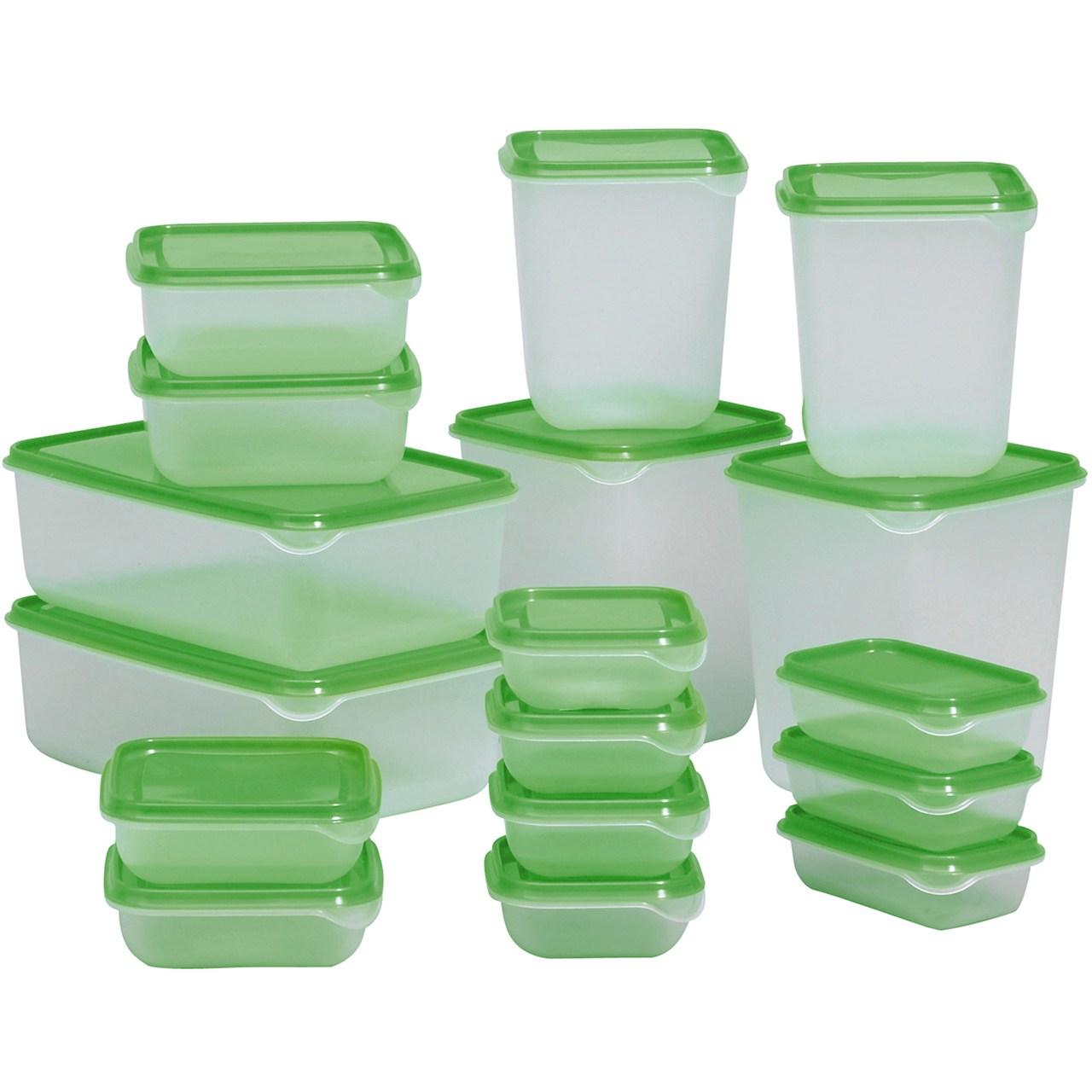 ست 17 تکه ظروف نگهدارنده غذا ایکیا مدل Pruta