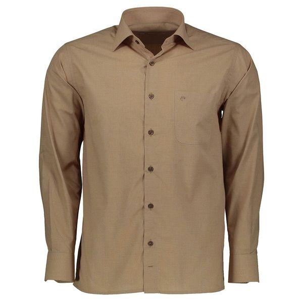 پیراهن آستین بلند مردانه اطمینان مدل آکسفورد کد 02